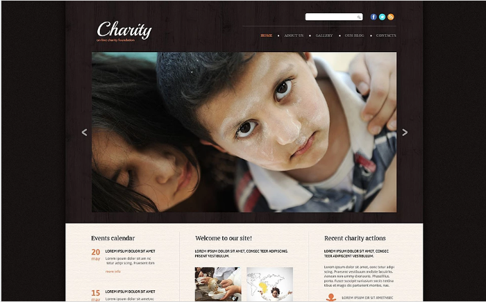 Charity Responsive Website Template