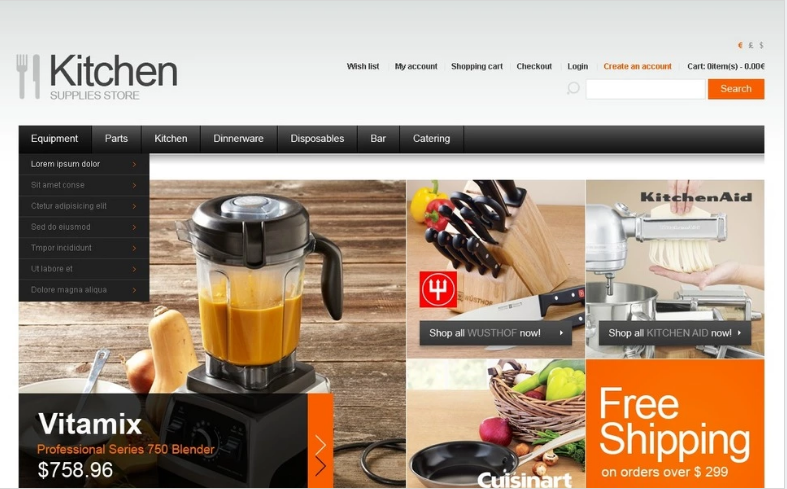 Chef's Choice OpenCart Template