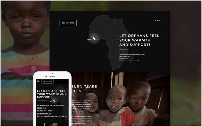 Child Charity Responsive Website Template
