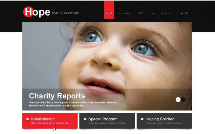 Child Charity Website Template