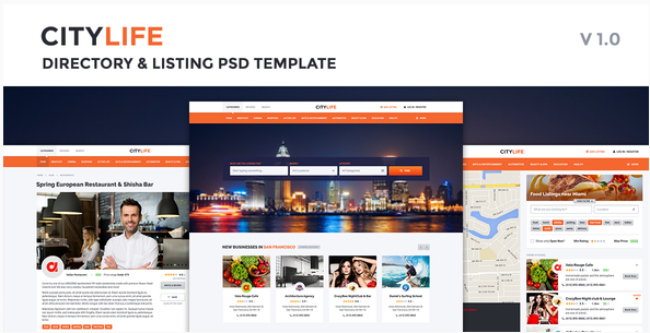 CityLife Directory & Listing PSD Template