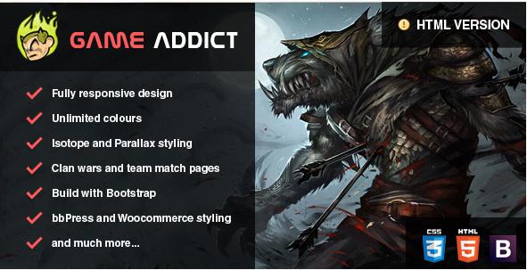 Clan War Gaming Template Gaming HTML Website Templates