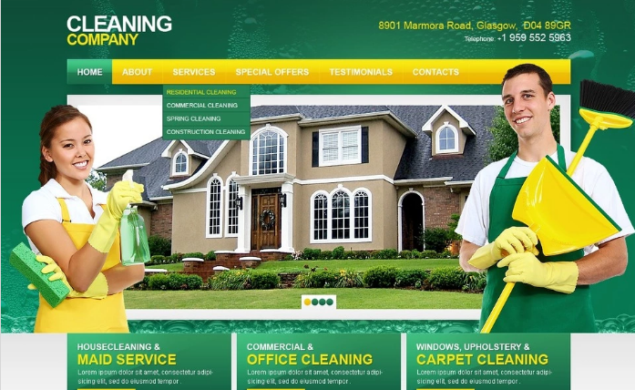 Best Cleaning Company PSD Design Templates