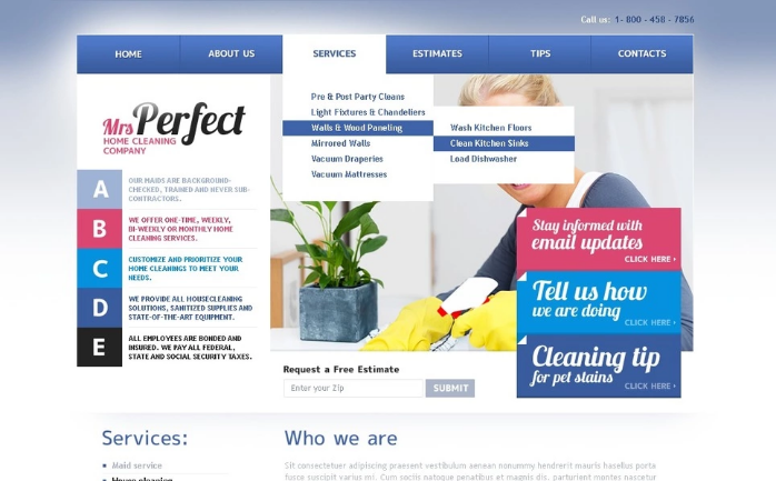 Cleaning PSD Template