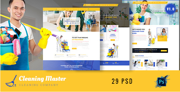 Clening Master - Cleaning Company PSD Template