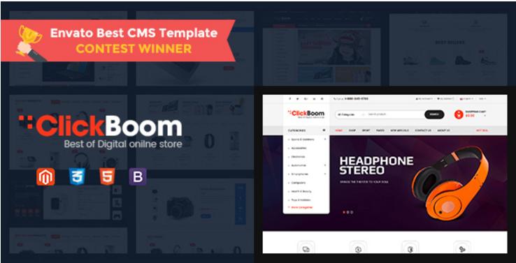 ClickBoom - Responsive Magento 2 Theme for DigitalFashion Online Shop