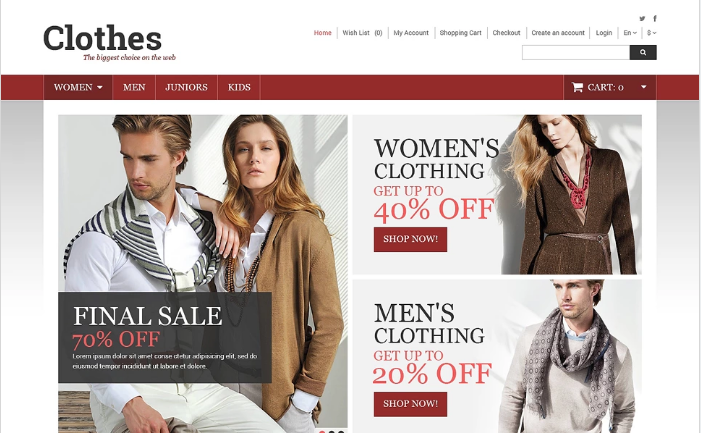 Clothes Store OpenCart Template
