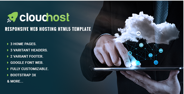 Cloud Host - Responsive Web Hosting HTML Template