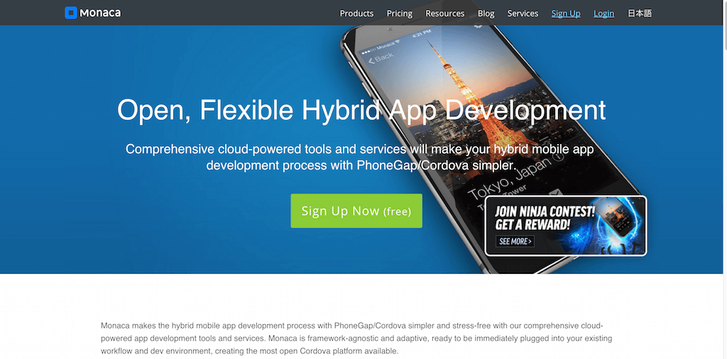 Cloud-Powered-HTML5-Hybrid-Mobile-App-Development-Tools-Monaca