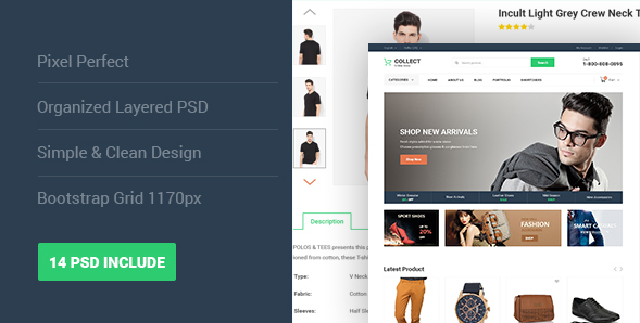 Collect - Fashion eCommerce PSD Template