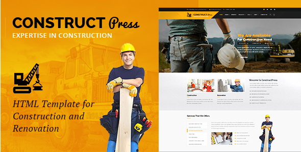 Construct Press - Construction and Renovation HTML Template