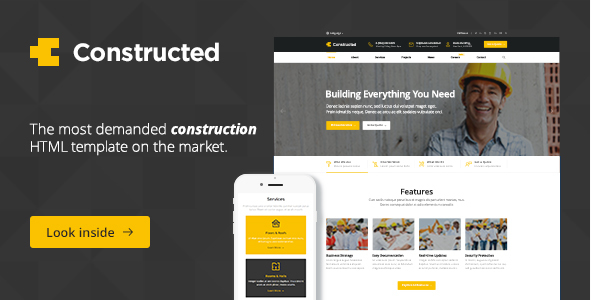 Constructed - Construction HTML Template