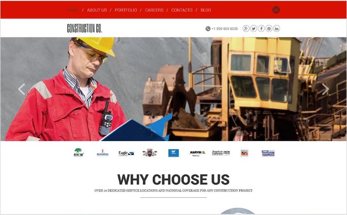 Construction Agency Joomla Template