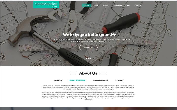 Construction Companies Joomla Template