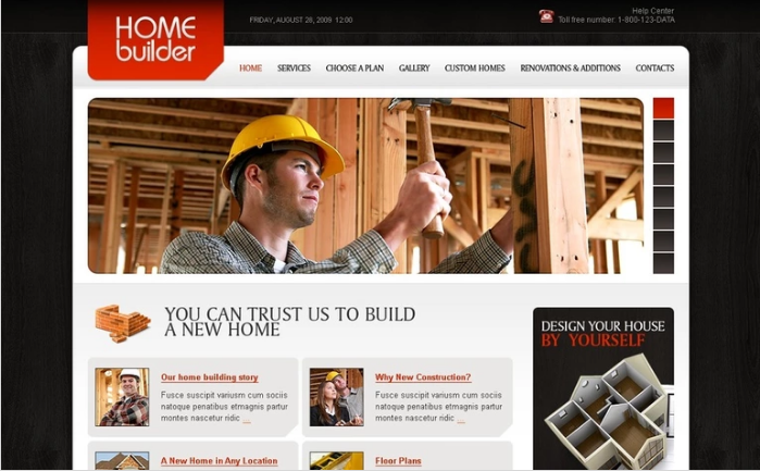 Construction Company PSD Template