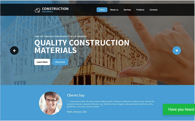 Best Construction HTML Website Templates