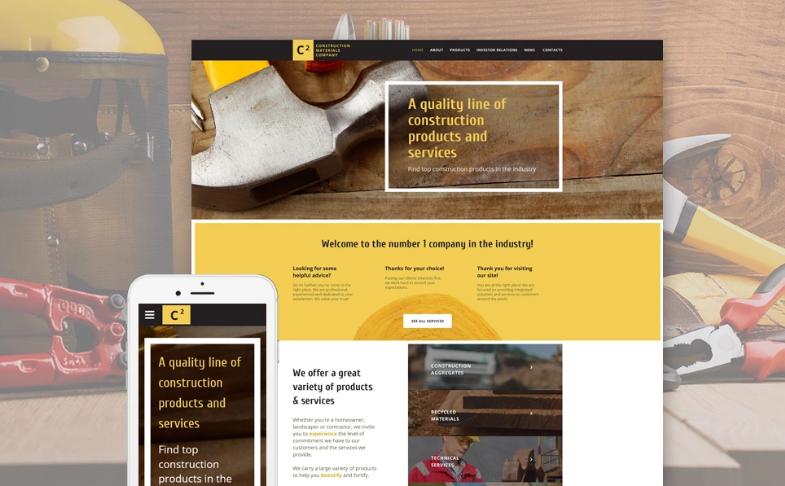 Construction Materials Company Website Template