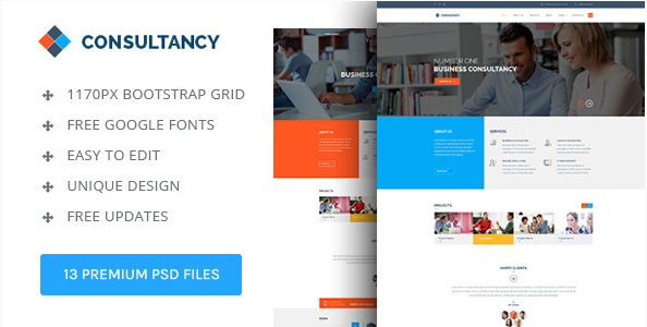 Consultancy Theme PSD Template