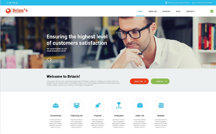 Consulting Agency PSD Template