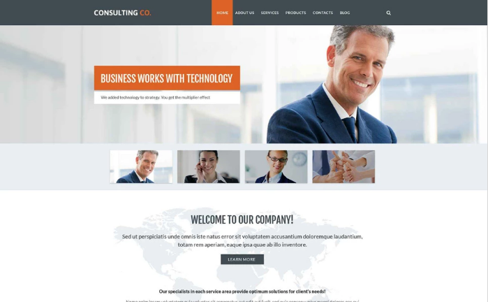 Consulting Company PSD Template