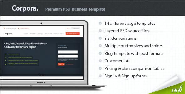 Corpora - Premium Business PSD Template