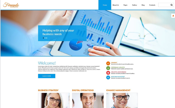 Corporate Consulting PSD Template