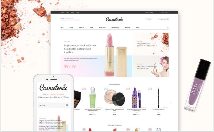 Cosmetorix - Responsive Cosmetics Store OpenCart template + RTL