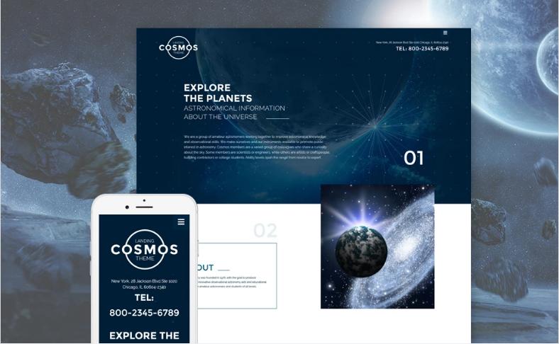 Cosmos Landing Theme Website Template