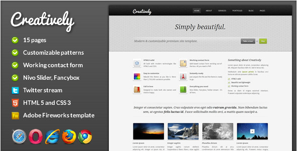 Creatively - Corporate HTML Template
