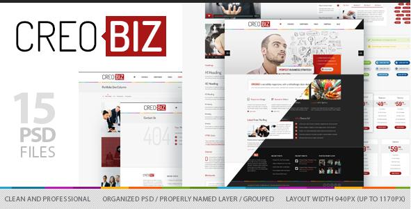 CreoBIZ - Corporate Creative PSD Template