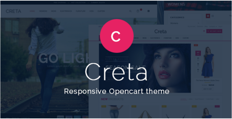 Creta - Responsive OpenCart Theme