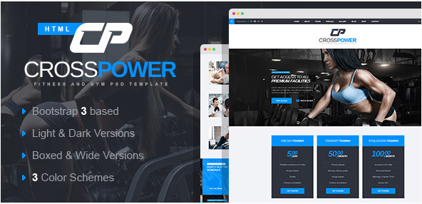 CrossPower - Sport Gym Fitness HTML Template