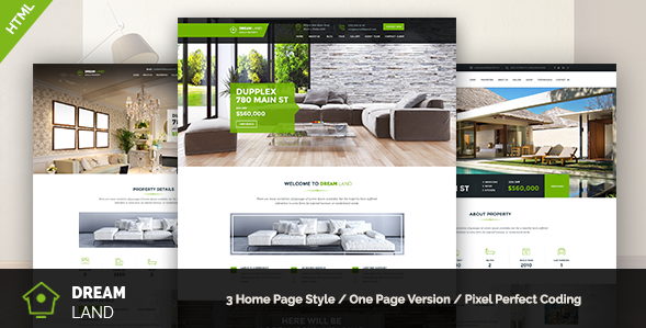 DREAM LAND - Single Property HTML Template