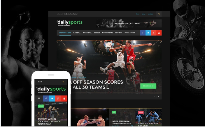DailySports Website Template