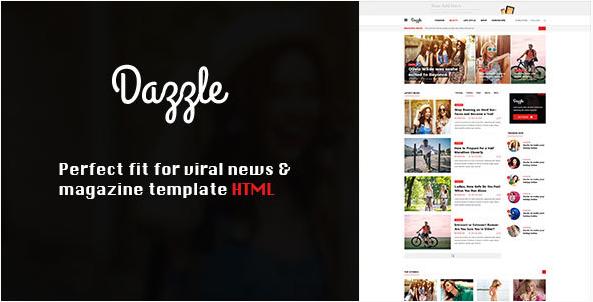 Dazzle – Viral Content Magazine HTML Template