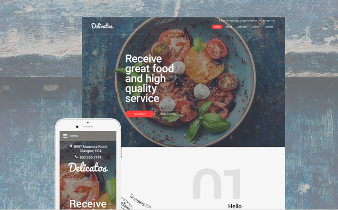 Delicatos Website Template