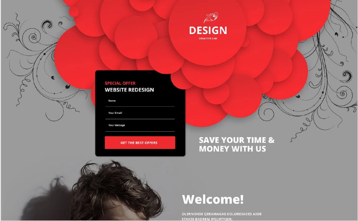 Design Studio Responsive Landing Page Template
