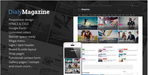 DialyMagazine - Clean & Flat Magazine HTML