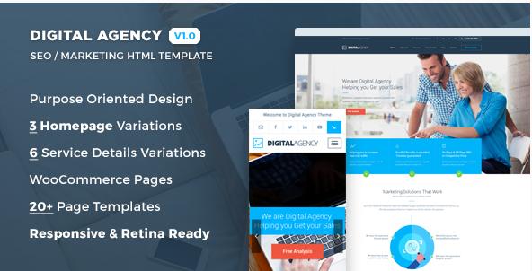 Digital Agency - SEO Marketing HTML Template