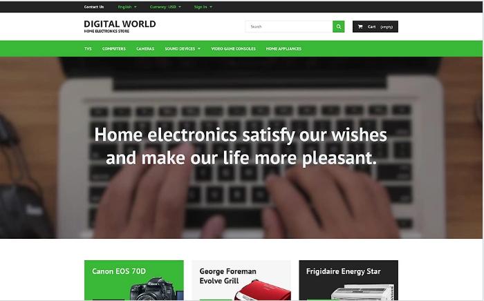 Digital World PrestaShop Theme