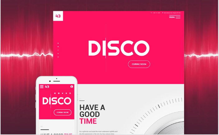 Disco Website Template