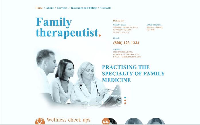 Doctor Responsive Website Template