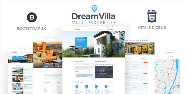 DreamVilla - Real Estate HTML Template