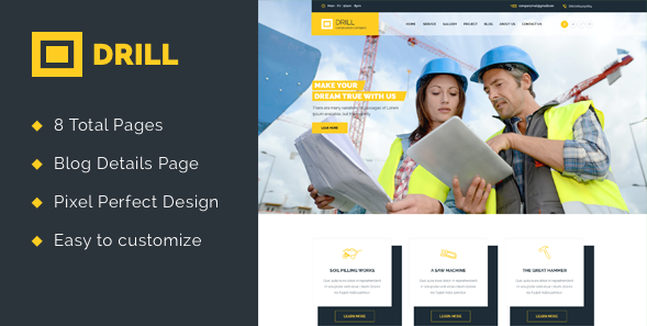 Drill Construction Html Template