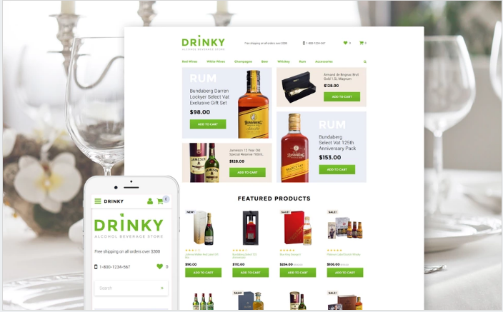 Drinky OpenCart Template