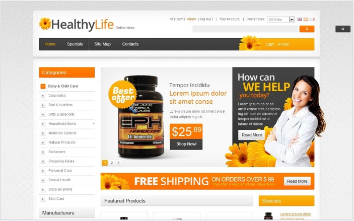 Drugs / Products for Health PrestaShop Theme