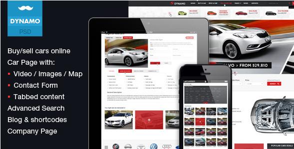 Dynamo - SellBuyRent Cars Online PSD