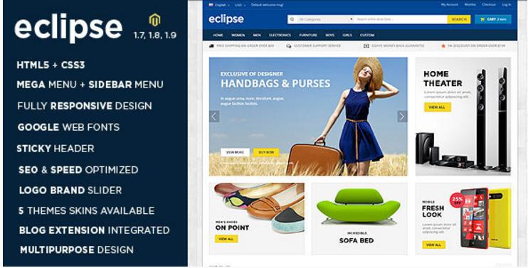 Eclipse - Responsive Multipurpose Magento Theme