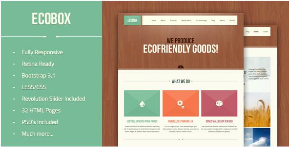 Ecobox - Responsive HTML