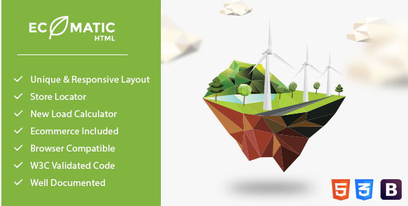Ecomatic - Responsive HTML Template for Renewable Energy Businesses